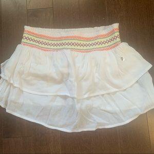 NWT AERIE WHITE FRILL COLOURED SHORR DRESS SKIRT